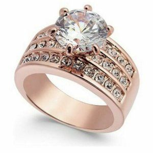 Charter Club Size 5 Cubic Zarconia Rose Gold
